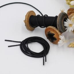 Lacets Glacés ronds CALIXTE 3mm - Noir - Made by bobine