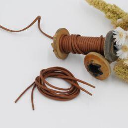 Lacets Cirés ronds EDOUARD 3mm - Cuivre - Made by bobine