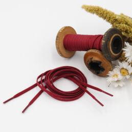 Lacets Cirés plats VLADIMIR 4mm - Rouge - Made by bobine