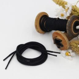 Lacets Cirés ronds MOLENE 3mm - Noir - Made by bobine