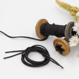 Lacets Cirés ronds URBAIN 3mm - Noir - Made by bobine